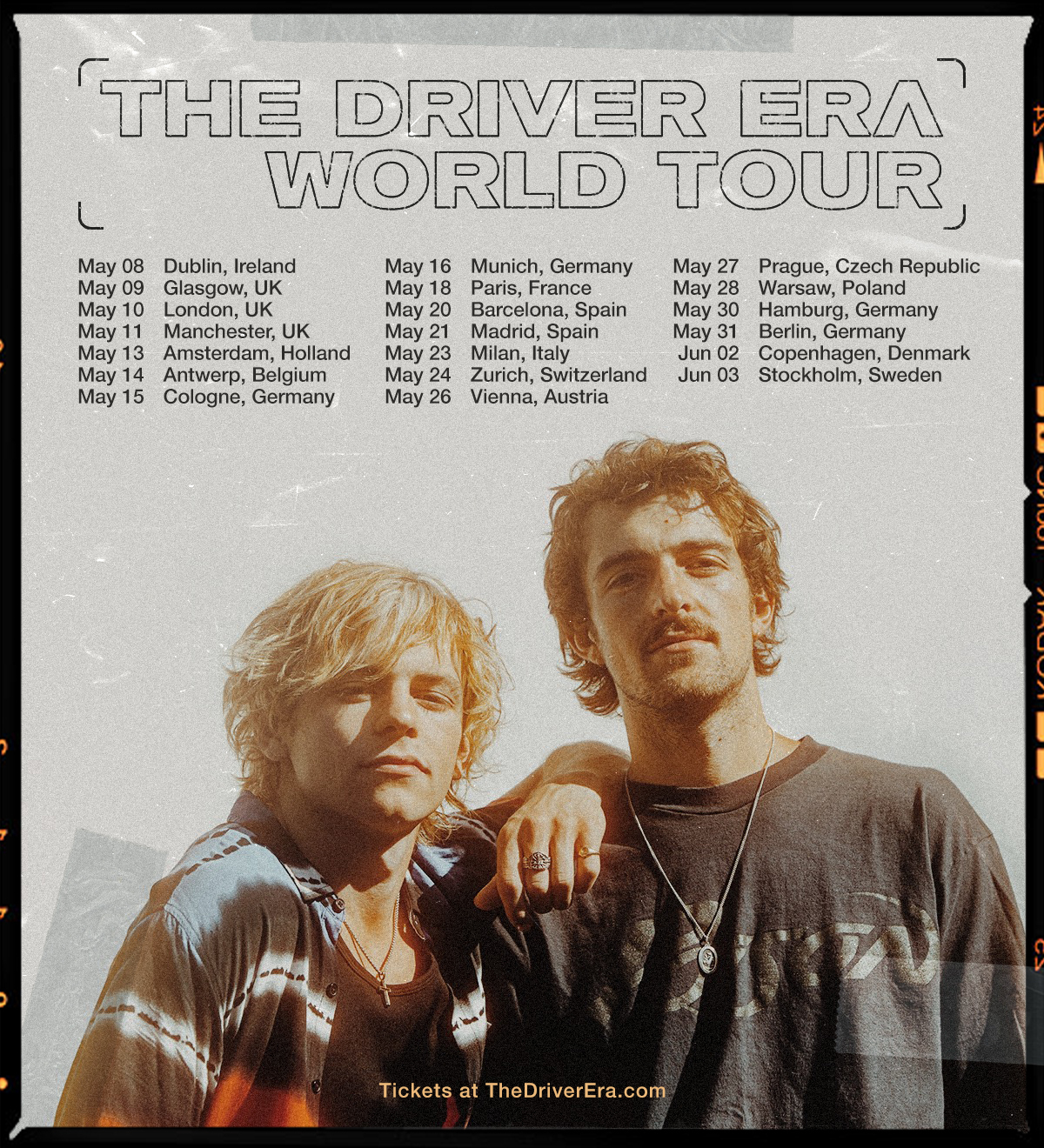 The Driver Era UK tour 2021